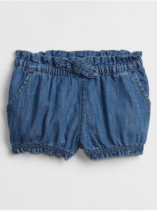 Modré holčičí baby kraťasy denim bubble shorts