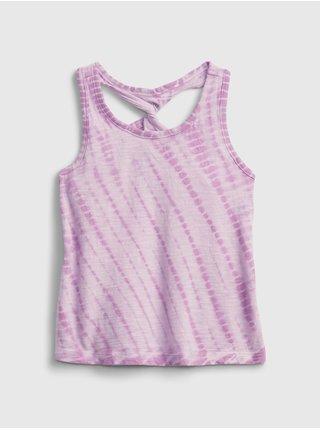 Růžový holčičí dětský top twist back tank