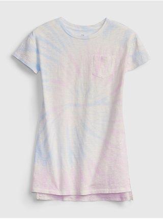 Barevné holčičí dětské šaty pocket tshirtdress