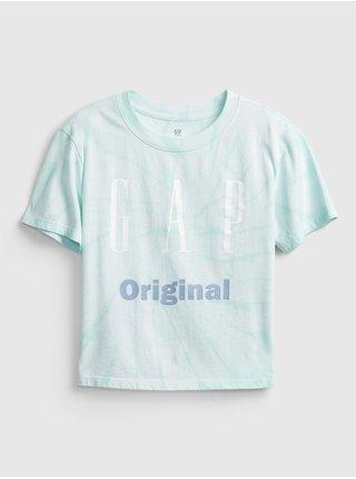 Modré holčičí dětské tričko GAP Logo original t-shirt