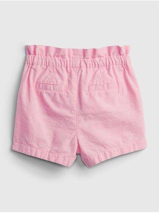 Růžové holčičí dětské kraťasy ruffle bow pull-on shorts