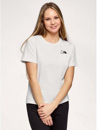 Tričko bavlněné s kapsičkou na prsou OODJI