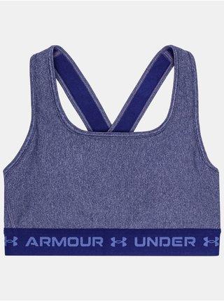 Podprsenka Under Armour Crossback Mid Heather Bra - modrá