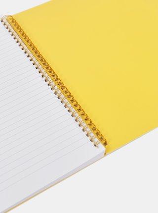 Béžový vzorovaný zápisník Sass & Belle