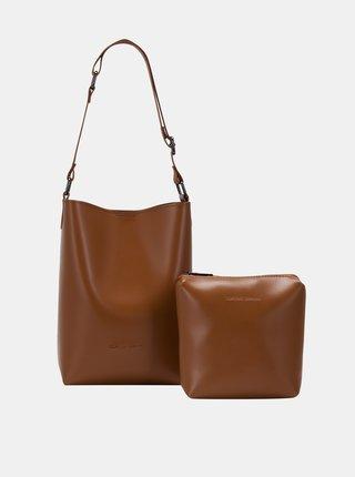 Hnědá kabelka s odnímatelným pouzdrem Claudia Canova