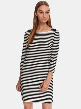 Bílo-černé pruhované šaty TOP SECRET
