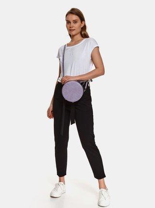Černé zkrácené kalhoty se zavazováním TOP SECRET