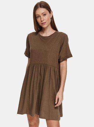 Hnedé voľné šaty TOP SECRET