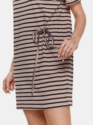 Staroružové pruhované šaty so zaväzovaním TOP SECRET