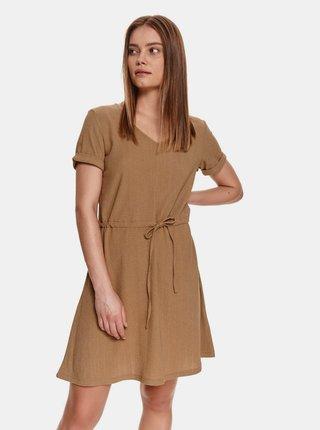 Hnedé šaty so zaväzovaním TOP SECRET