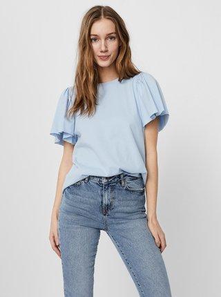 Světle modré tričko AWARE by VERO MODA Onella