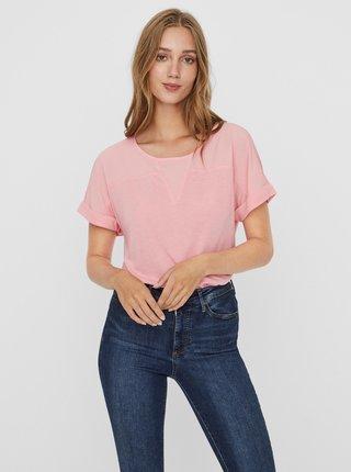 Růžová halenka VERO MODA Ellen