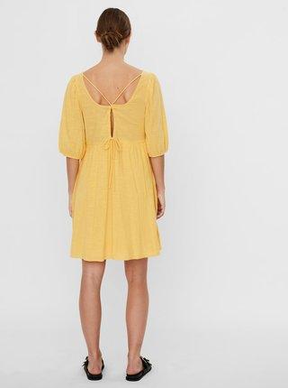 Žluté volné šaty VERO MODA Gabi