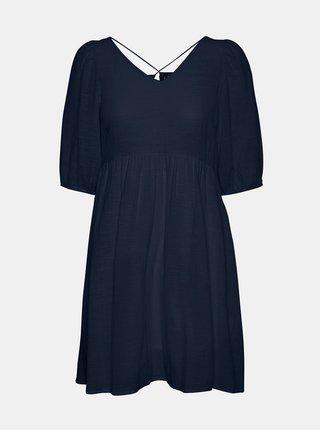 Tmavě modré volné šaty VERO MODA Gabi