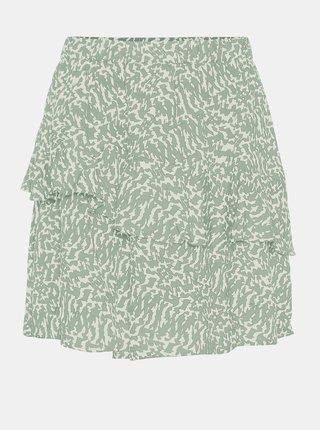 Zelená vzorovaná sukňa AWARE by VERO MODA Hanna