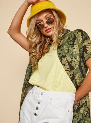 Žluté dámské dlouhé basic tričko ZOOT Tara