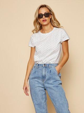 Biele dámske tričko so srdiečkami ZOOT Sierra