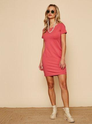 Růžové basic šaty ZOOT Baseline Brennda 2