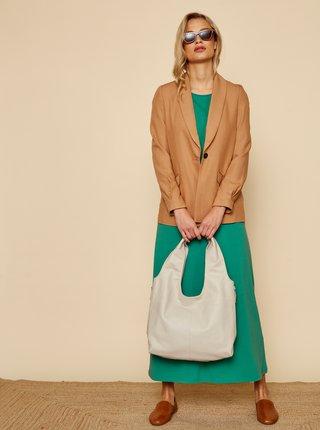 Zelené basic maxišaty se zavazováním ZOOT Baseline Audrey