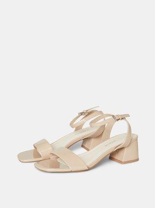 Béžové sandálky na širokém podpatku VERO MODA Liza
