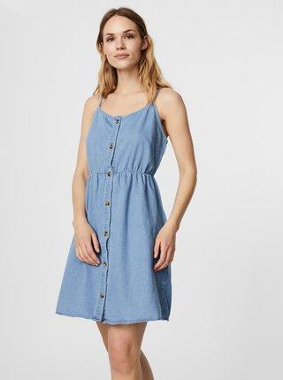 Svetlomodré rifľové šaty s gombíkami VERO MODA Flicka