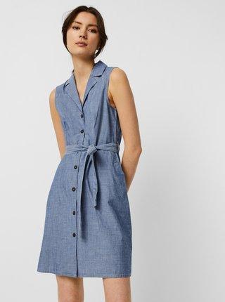 Modré košeľové šaty VERO MODA Sandy