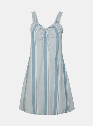 Světle modré pruhované šaty VERO MODA Akela