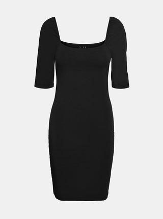 Černé pouzdrové šaty VERO MODA Gloria