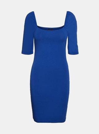 Modré pouzdrové šaty VERO MODA Gloria