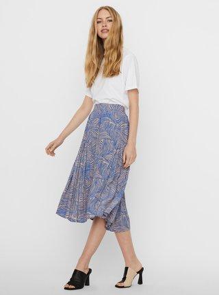 Modrá vzorovaná sukně VERO MODA Gea