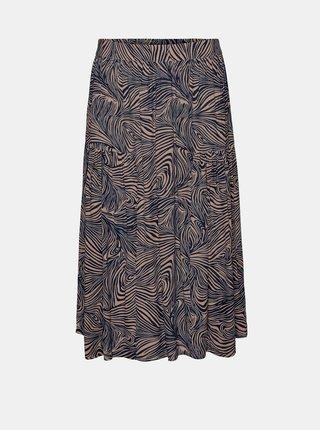 Hnědá vzorovaná sukně VERO MODA Gea