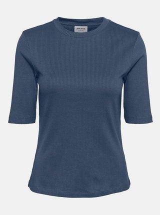 Modré tričko AWARE by VERO MODA Okay