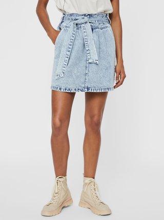 Světle modrá džínová sukně se zavazováním VERO MODA Katie