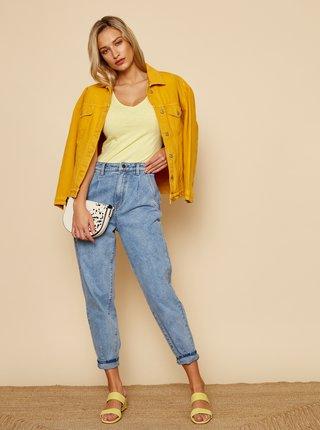 Žluté dámské basic tričko ZOOT Baseline Lia