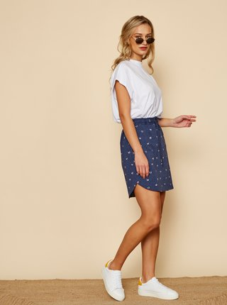 Tmavě modrá vzorovaná sukně ZOOT Baseline Tima