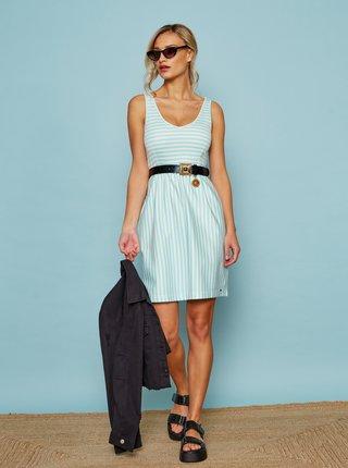 Bielo-modré pruhované basic šaty ZOOT Baseline Sherlyn