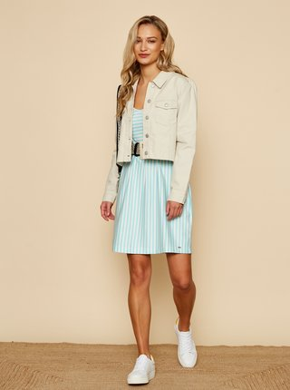 Bílo-modré pruhované basic šaty ZOOT Baseline Sherlyn