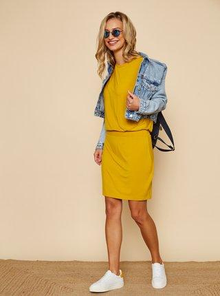 Žlté basic šaty ZOOT Baseline Nona