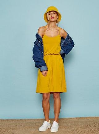 Žluté basic šaty na ramínka ZOOT Baseline Radka