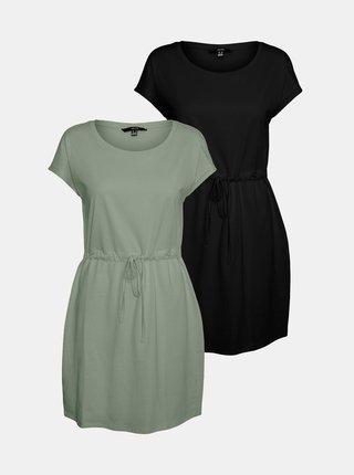 Sada dvoch basic šiat v čiernej a zelenej farbe VERO MODA April
