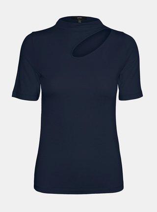 Tmavě modré tričko s průstřihem VERO MODA Glow