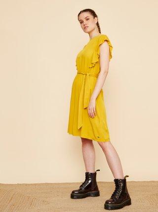 Žluté šaty s volány ZOOT Mollie