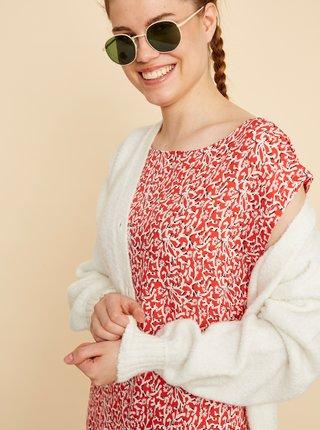 Červené květované šaty se zavazováním ZOOT Aimee