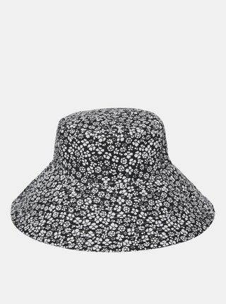 Bílo-černý květovaný klobouk VERO MODA Bella