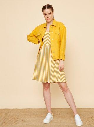 Bielo-žlté pruhované šaty ZOOT Nila