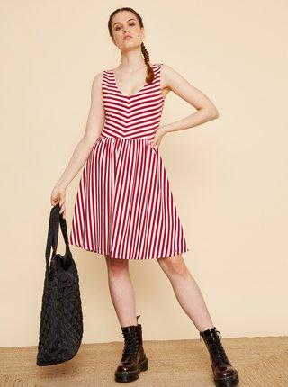 Bílo-červené pruhované šaty ZOOT Nila