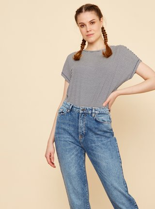 Tmavě modré dámské pruhované basic tričko ZOOT Baseline Christil