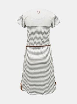 Bílé pruhované šaty s páskem Alife and Kickin