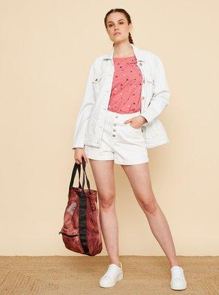 Růžové dámské vzorované tričko ZOOT Baseline Raquel