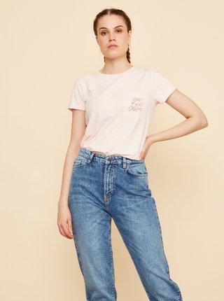 Světle růžové dámské tričko s potiskem ZOOT Baseline Braulia